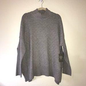 Grey Mock Neck Sweater Vince Camuto Sz L BNWT